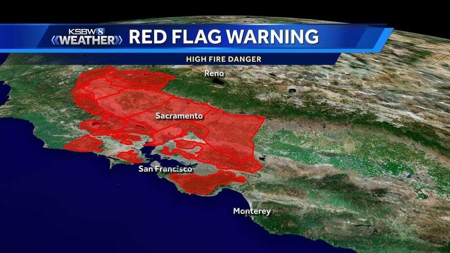 Santa Cruz Mountain Fire Map.Red Flag Warning Issued For Santa Cruz Mountains Sfgate