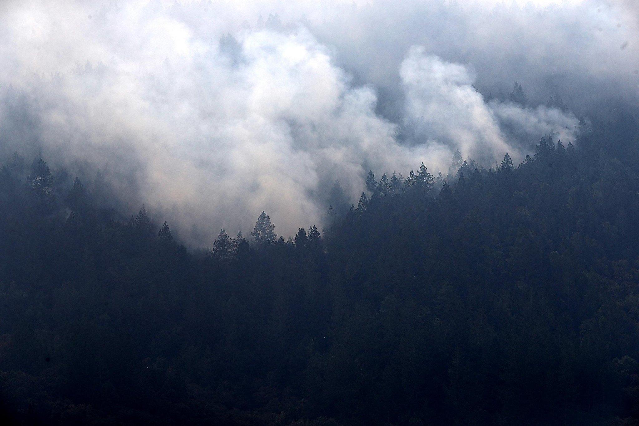 Wine Country fire smoke sickening people nearly 100 miles away