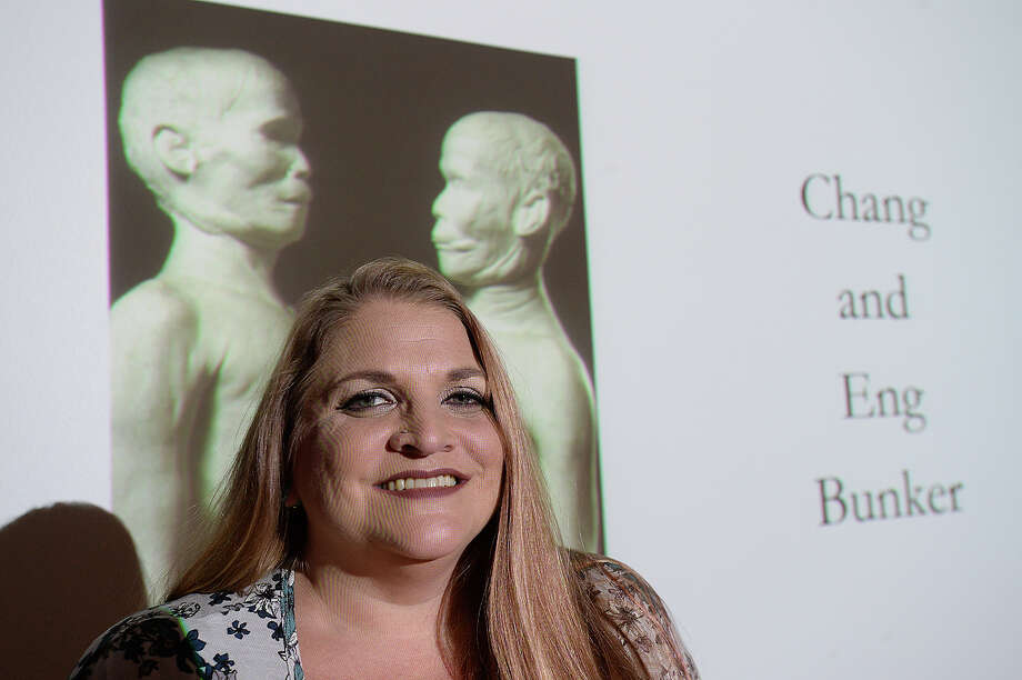 "Marcy Engleman, the educator at Philadelphia's Mutter Museum, will bring the museum's collection to life with a virtual tour and lecture Thursday at the McFaddin-Ward Visitor's Center. Engleman is the October featured guest in the museum's annual lecture series. ""The Mutter Museum : An Unusual Collection"" will feature some of the odd and mysterious medical instruments, human remains, and samples, which include Einstein's brain, that are found at the museum.  Photo taken Wednesday, October 11, 2017 Kim Brent/The Enterprise Photo: Kim Brent / BEN"