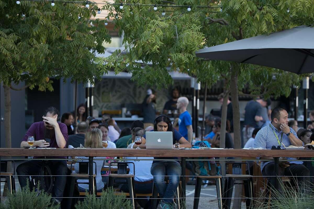 A restaurant near SurveyMonkey HQ in San Mateo.