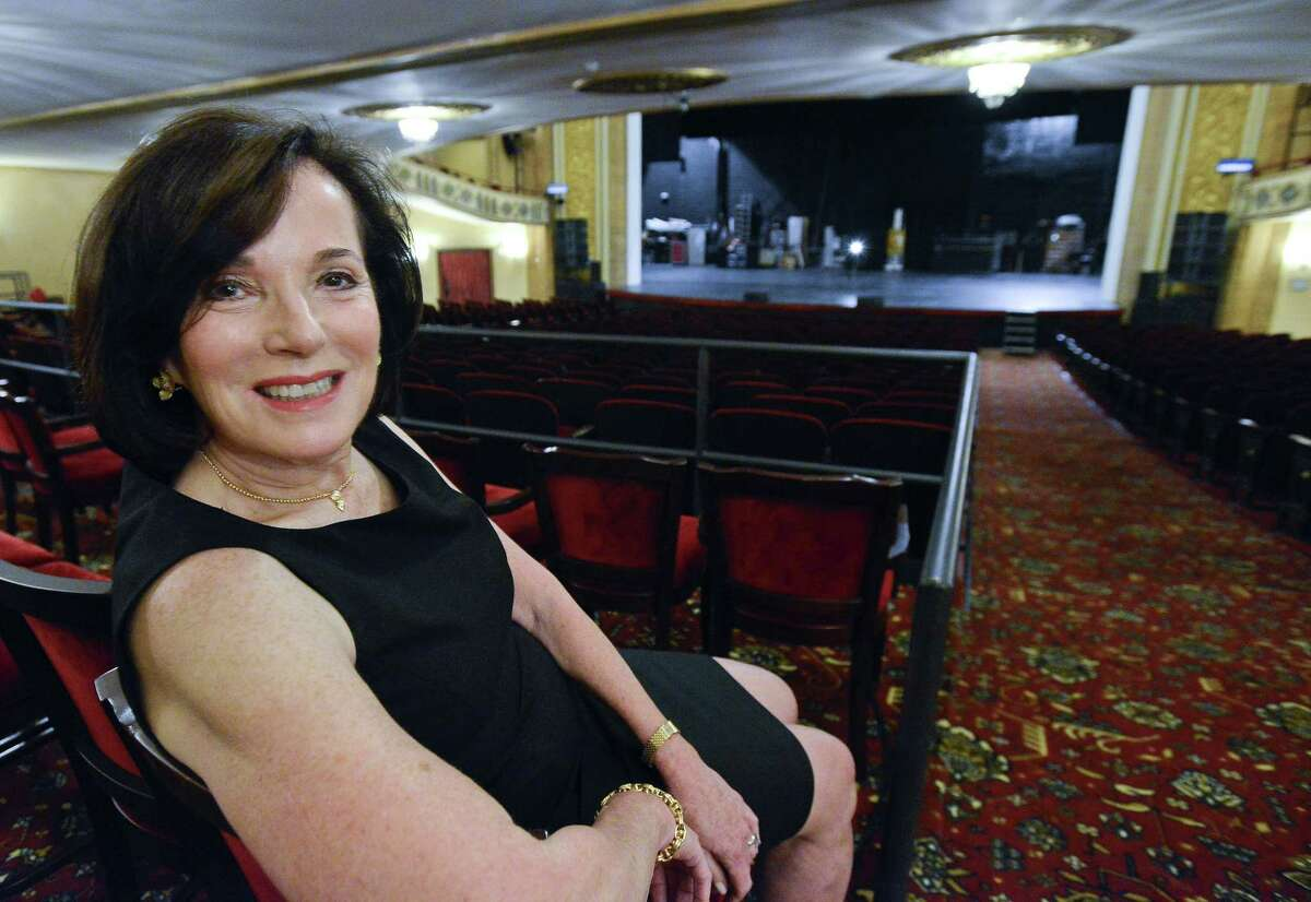 Barbara Soroca, photographed on Tuesday at the Palace Theater in Stamford, is retiring as CEO of the Stamford Symphony after 39 years.