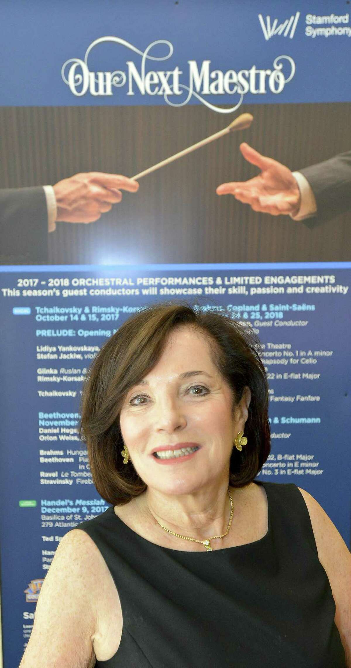 Barbara Soroca is retiring as CEO of the Stamford Symphony after 39 years. Soroca is photograph on Tuesday, Oct. 10, 2017 at the Palace Theater in Stamford, Connecticut.