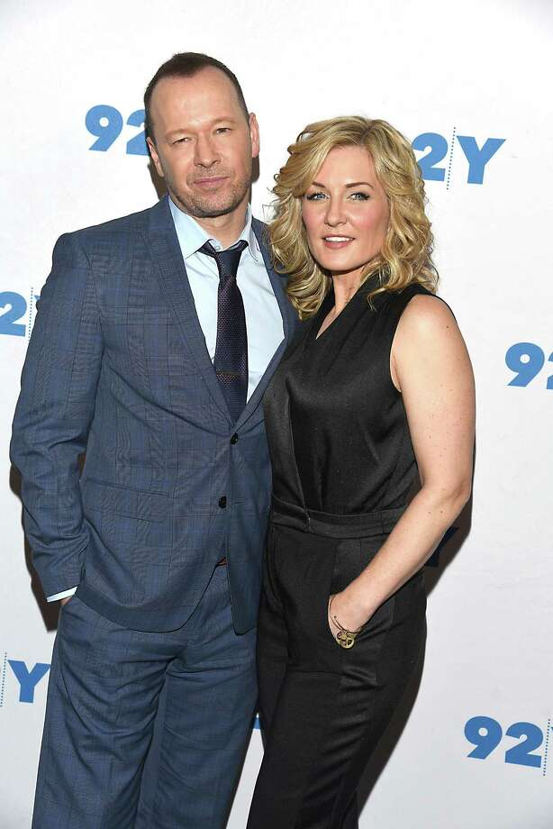 """Donnie Wahlberg and Amy Carlson attend the """"Blue Bloods"""" 150th Episode Celebration at 92Y on March 27, 2017 in New York, New York,USA. (Robin Platzer/Twin Images/Sipa USA/TNS) Photo: Robin Platzer/Twin Images / Sipa USA"""