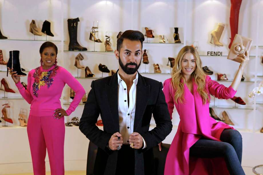 Fady Armanious, creative director of Tootsies, center, is shown with Adrian Kreps, left, and Kate Kutchins, right, at Tootsies, 2601 Westheimer Rd., Tuesday, Oct. 3, 2017, in Houston. Photo: Melissa Phillip, Houston Chronicle / © 2017 Houston Chronicle