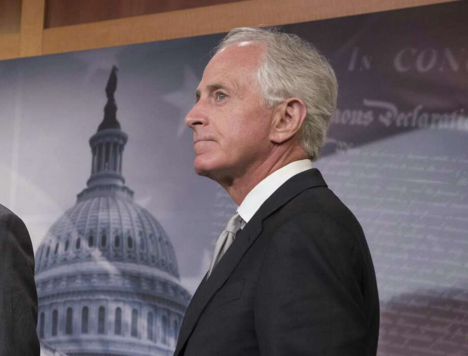 Sen. Bob Corker, R-Tenn., who has announced his retirement, has, with his criticism of President Trump, given public permission to question the president's fitness for office. Photo: J. Scott Applewhite /Associated Press / AP