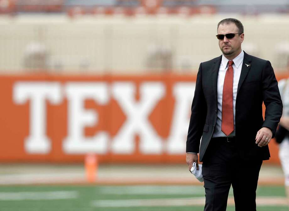 """Coach Tom Herman knows how much is riding on the UT-OU matchup to many fans. """"I would be naive not to tell you that this rivalry is important to a lot of people."""" Photo: Eric Gay, STF / Copyright 2017 The Associated Press. All rights reserved."""