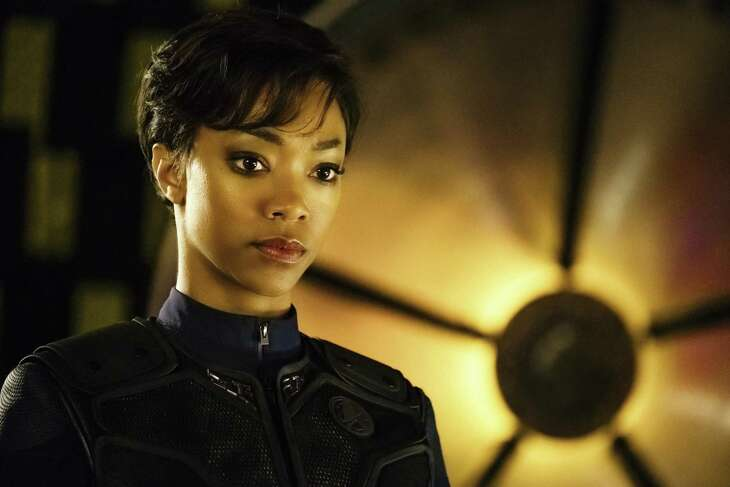 """Sonequa Martin-Green as First Officer Michael Burnham in """"Star Trek: Discovery."""" The CBS All Access streaming series will have its first full season air on CBS, starting Sept. 24."""