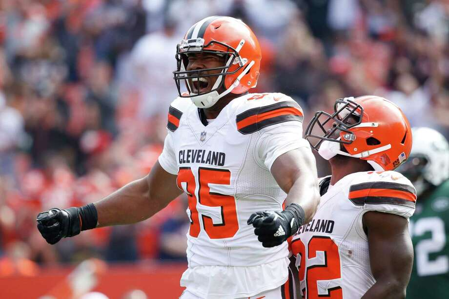 After recovering from a high ankle sprain, Browns defensive end Myles Garrett is just beginning to find his NFL groove. Photo: Joe Robbins, Stringer / 2017 Getty Images