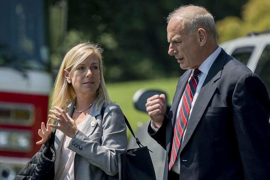 Kirstjen Nielsen was the choice of White House Chief of Staff John Kelly. She is a long- time public servant. Photo: Andrew Harnik, Associated Press
