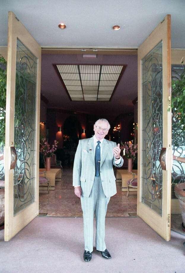 Camille Bermann, owner of Maxim's Restaurant, welcomes guests on June 3, 1987. Photo: John Everett, HC Staff / Houston Chronicle
