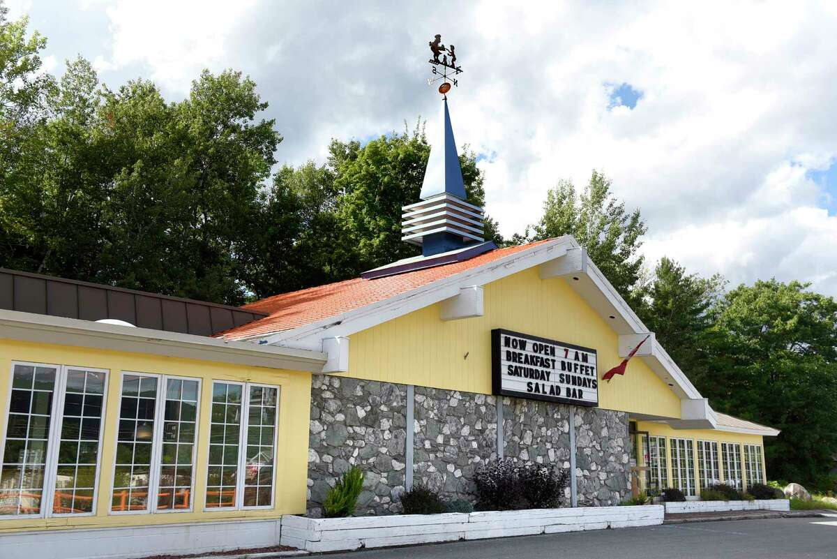 Howard Johnson's restaurant features the Simple Simon and the Pieman weathervane on Thursday, Sept. 1, 2016, in Lake George Village, N.Y. After Labor Day weekend, this Howard Johnson's will be the last of its kind in the country. (Cindy Schultz / Times Union)