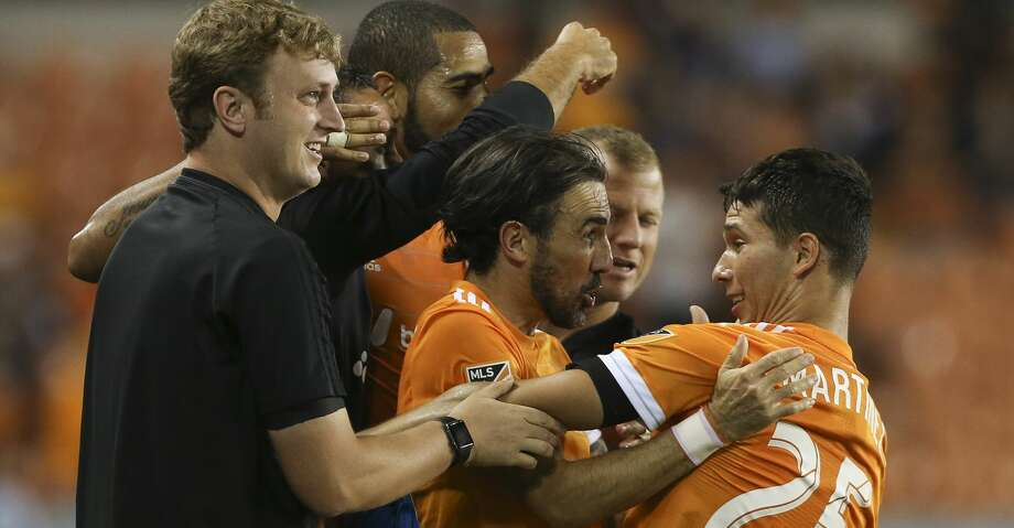 The Dynamo have clinched a playoff berth and could host a first-round game if they win on Sunday and get some help. Photo: Yi-Chin Lee/Houston Chronicle