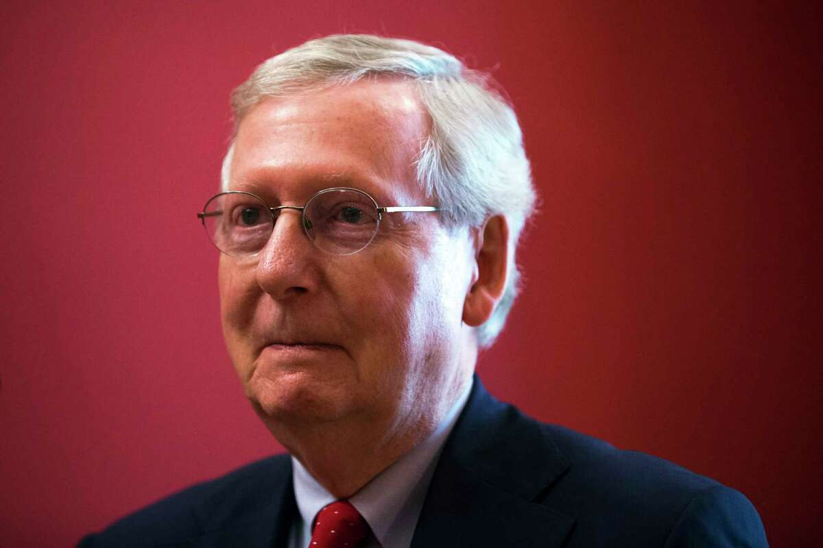 Senate Majority Leader Mitch McConnell (R-Ky.) on Capitol Hill on Monday, Sept. 11, 2017. McConnell thinks Democrats were a tad premature in exuberantly celebrating the surprise spending deal they with President Trump. (Tom Brenner/The New York Times) ORG XMIT: XNYT152