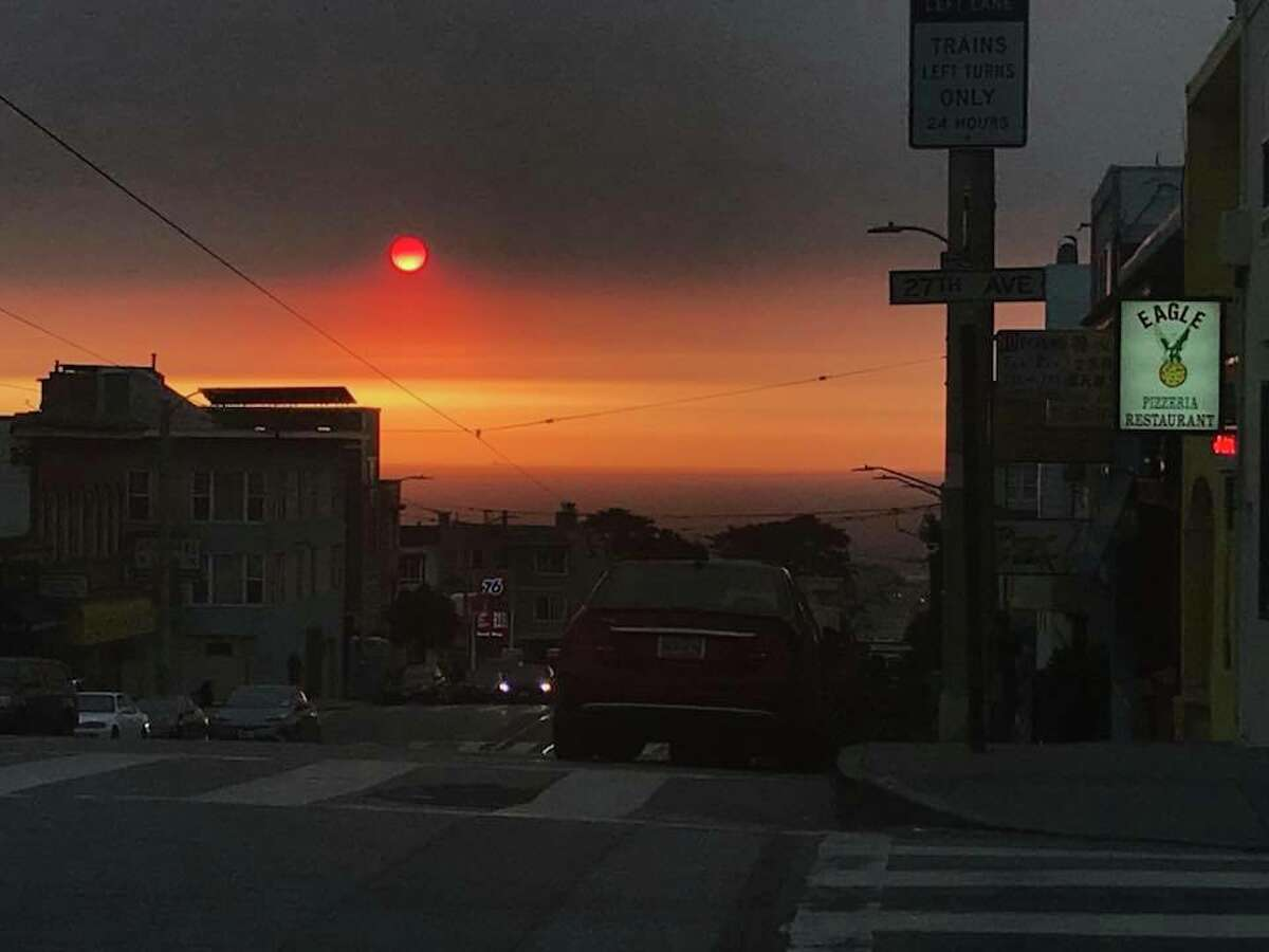 Facebook and Instagram users shared photos of the sunset over the Bay Area on October 11, 2017.