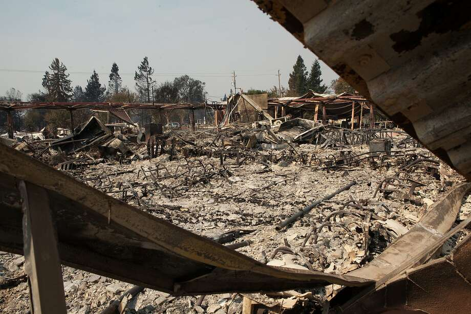 Fire danger is high on the anniversary of the Wine Country Fires, including the Tubbs Fire, which inflicted major damage on Cardinal Newman High School in Santa Rosa as seen on Oct. 11. Photo: Alex Washburn / The Chronicle
