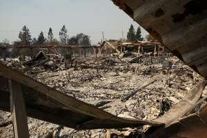 The Tubbs Fire inflicted major damage on Cardinal Newman High School in Santa Rosa, Ca. as seen on Wednesday, October 11, 2017.