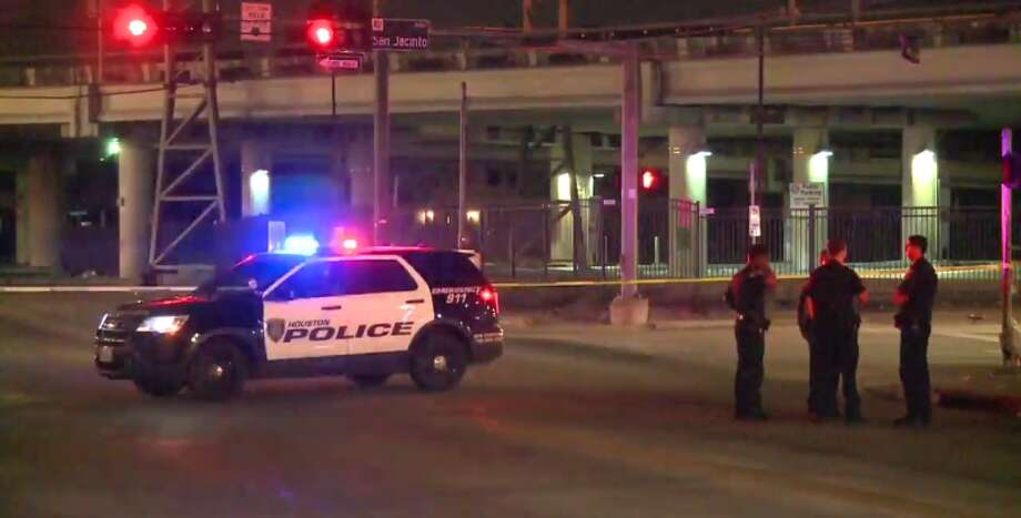 A man officials believe is homeless was stabbed late Wednesday near a Midtown encampment. (Metro Video) Photo: Metro Video