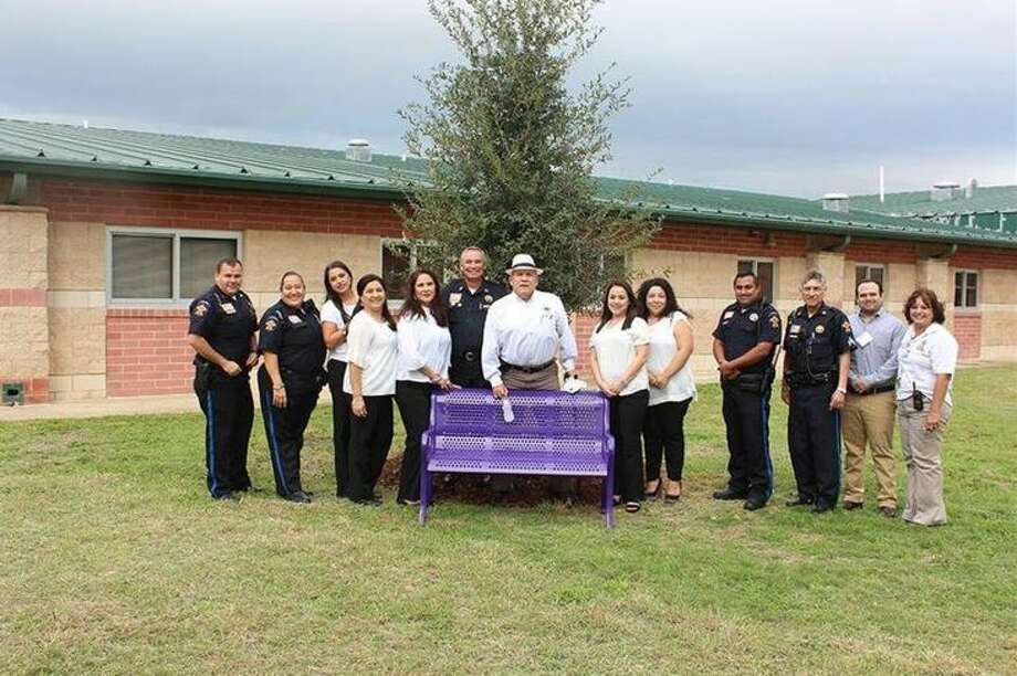 Fasken Elementary School staff, together with community partners, hosted a celebration of life with a tree planting ceremony on Tuesday. Photo: Courtesy
