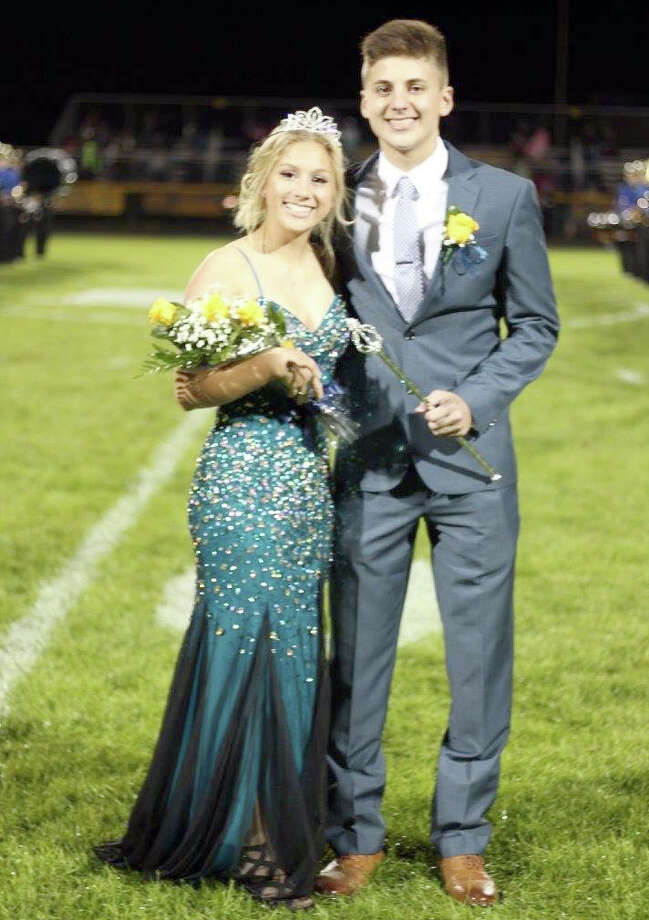 Jared Sobczak, son of Bob and Lori Sobczak, and Sara Wehner, daughter of Brent and Dawn Wehner, were crowned this year's Bad Axe Homecoming King and Queen. Photo: Submitted To The Tribune