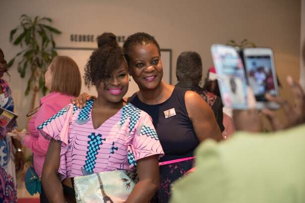 Kim Roxie and Iola Duncan of the Fort Bend Church  THE ROSE: