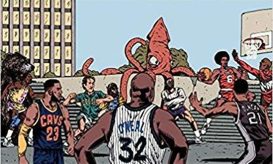 "SA native Shea Serrano's new book ""Basketball (And Other Things)"" features art by Arturo Torres. Photo: Courtesy Abrams Image"