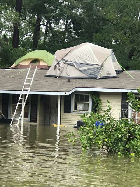 The Galveston County Appraisal District has set up an email address for residents to report damage from Hurricane Harvey, which flooded thousands of area residences such as this one in Dickinson. Photo: Dennis Britt