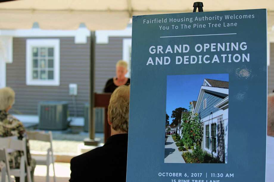 The Fairfield Housing Authority hosted a grand opening celebration for the new Pine Tree apartment complex Friday. Fairfield,CT.  10/6/17 Photo: Genevieve Reilly / Hearst Connecticut Media / Fairfield Citizen
