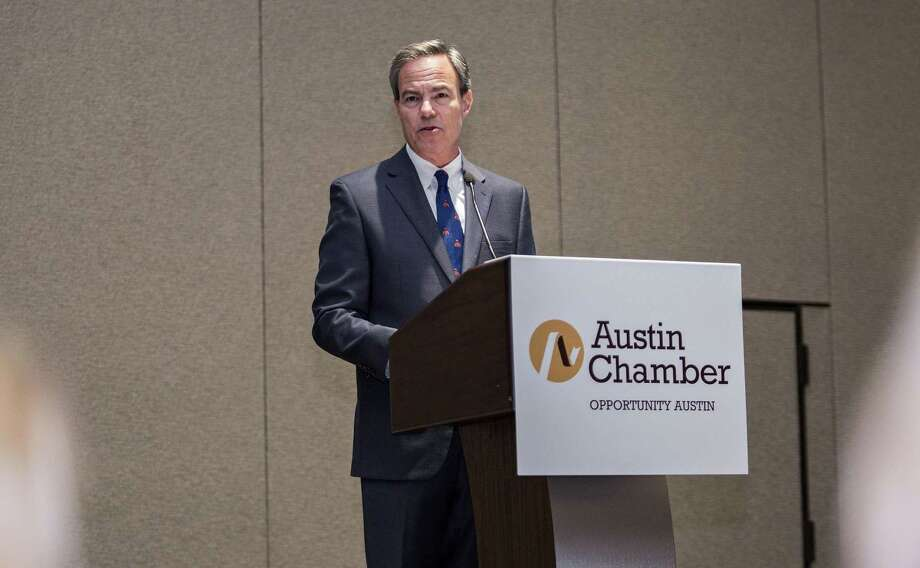 Speaker Joe Straus announced a new Economic Competitiveness Committee to Austin Chamber's Fall Investor Breakfast at the Hilton on October 12, 2017 in Austin, Texas. Photo: Thao Nguyen, For San Antonio Express-News / Thao Nguyen