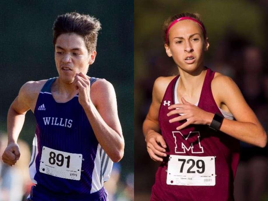 Willis junior Efrain Lira and Magnolia freshman Emma Ellis won District 20-5A titles on Thursday in Willis. Photo: Jason Fochtman