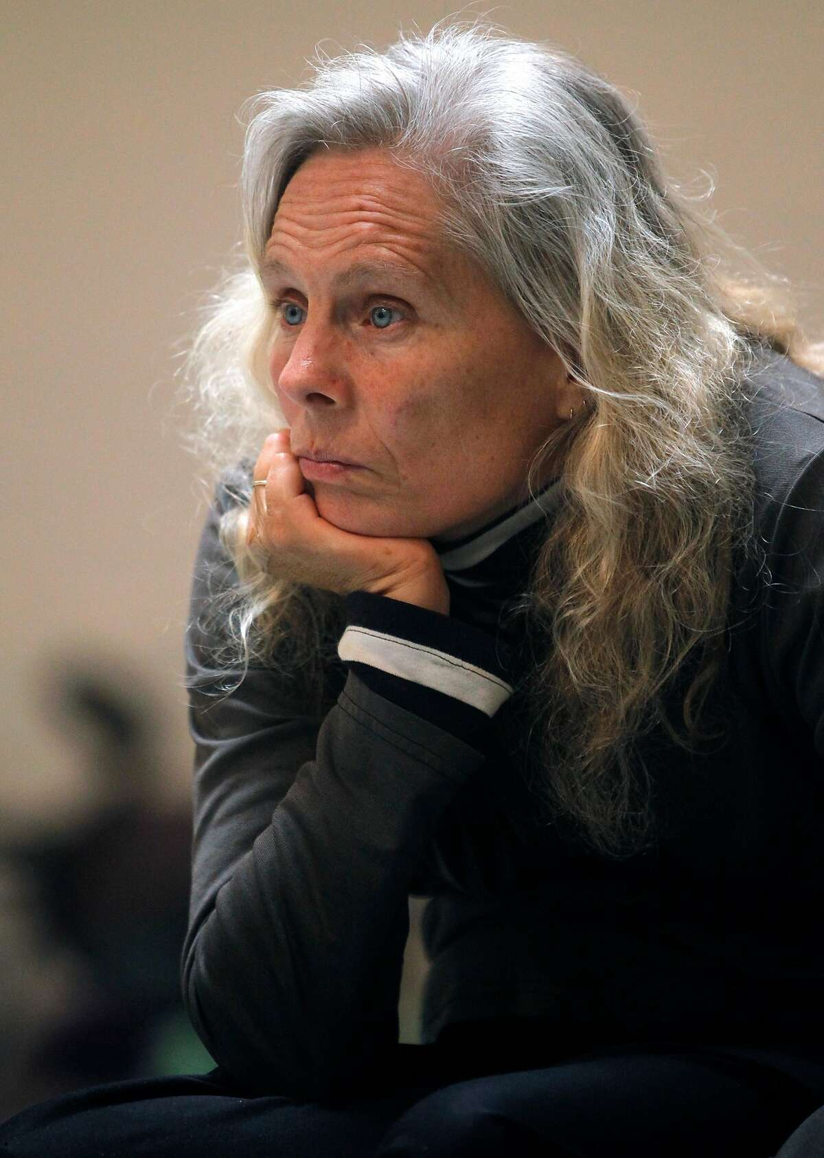 """Axis Dance Company artistic director Judith Smith watches dancers rehearse for the performance of """"What if would you"""" in Oakland, Calif. on Tuesday, March 19, 2013."""