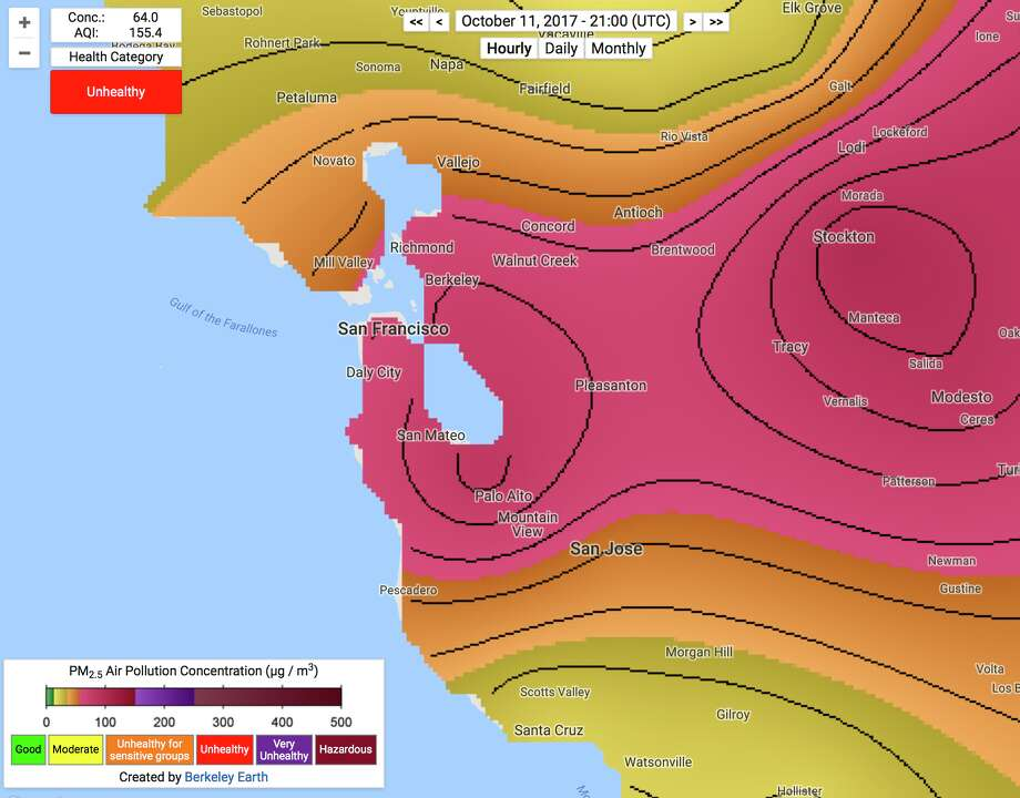 The air quality in the Bay Area right now is as bad as Beijing