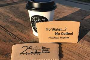 The San Antonio Water System is giving away free coffee at Press Cafe in observance of Imagine A Day Without Coffee on Oct. 12, 2017.