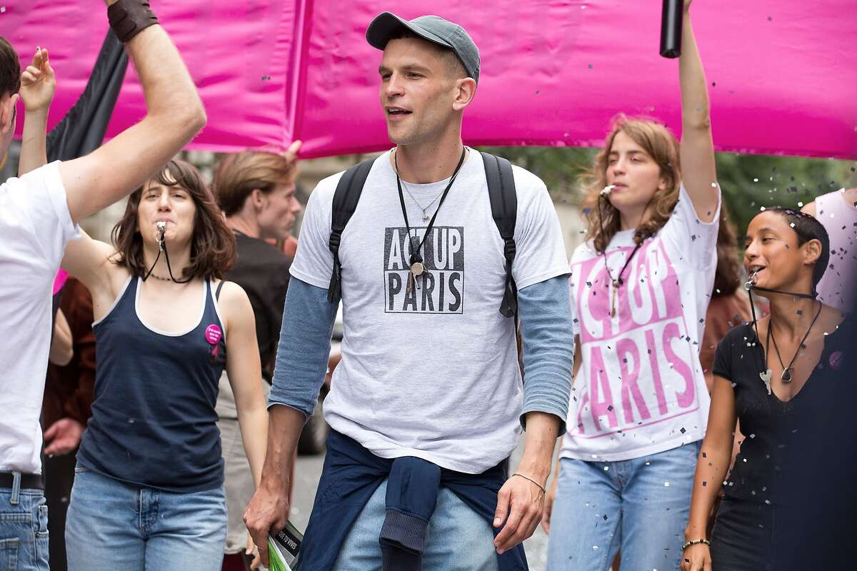 """L-R: Ad�le Haenel, Arnaud Valois, Alo�se Sauvage in a scene from """"BPM (Beats Per Minute),"""" opening at Bay Area theaters on Friday, Oct. 27. Photo courtesy of TIFF."""