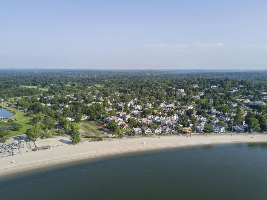 The view of Compo Beach from above. Photo: File Photo