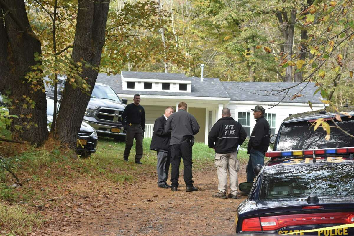 State Police investigators gathered at a home on Tool Road in Catskill on Thursday, Oct. 12, 2017.