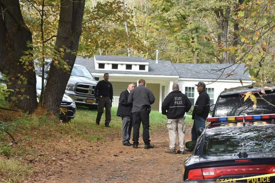 State Police investigators gathered at a home on Tool Road in Catskill on Thursday, Oct. 12, 2017. Photo: Lance Wheeler / Special To The Times Union