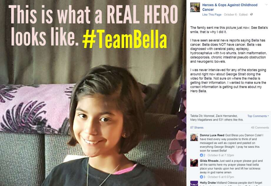 """This is what a REAL HERO looks like. #TeamBella"" Photo: Heroes & Cop Against Childhood Cancer"