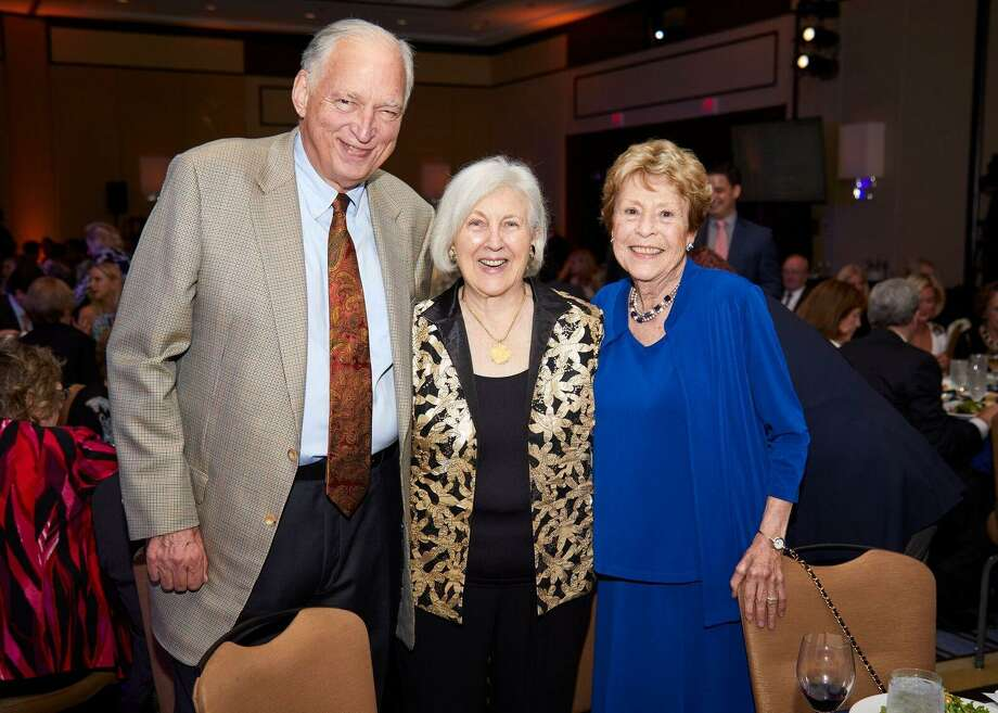 Austin Furst, Leslie Furst and Pat Phillips at the Pacific House Gala Photo: Contributed Photo