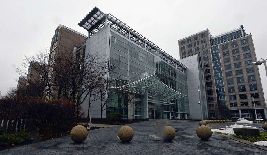 The vacant office complex at 677 Washington Blvd., in downtown Stamford, Conn., could house office space for Amazon, according to Stamford economic development director Thomas Madden. Photo: Matthew Brown / Hearst Connecticut Media / Stamford Advocate