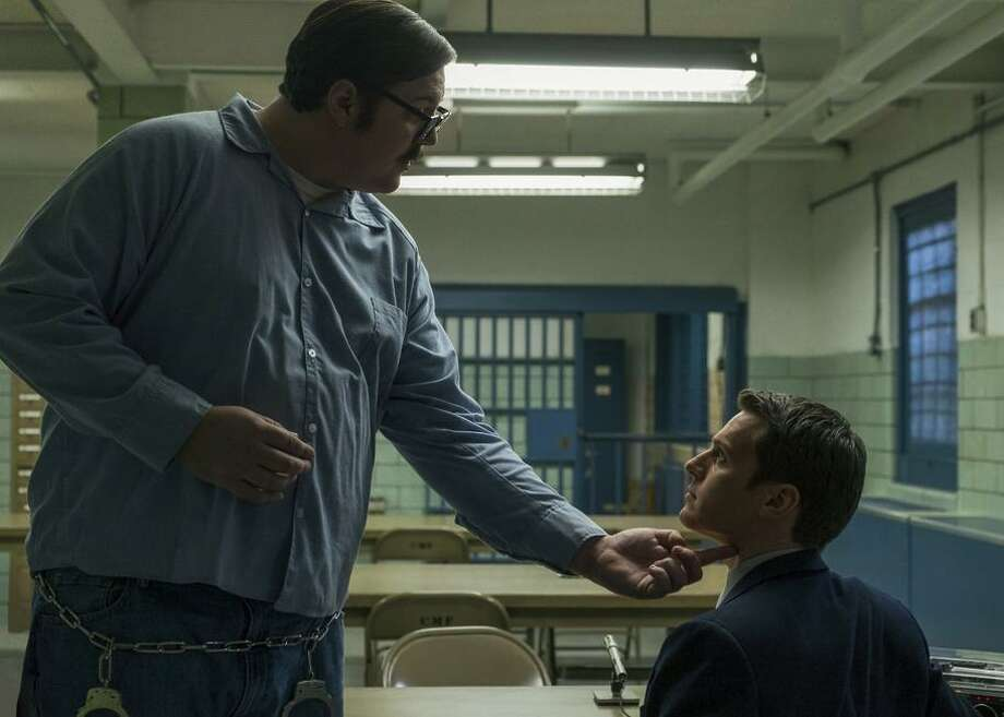 "Cameron Britton (left) and Jonathan Groff star in the Netflix original crime series ""Mindhunter."" Photo: Merrick Morton/Netflix / Merrick Morton / Netflix / This image cannot be altered in any way for use"