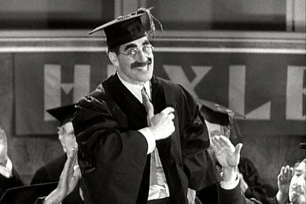 """Grocho Marx in """"Horse Feathers"""" (1932)."""
