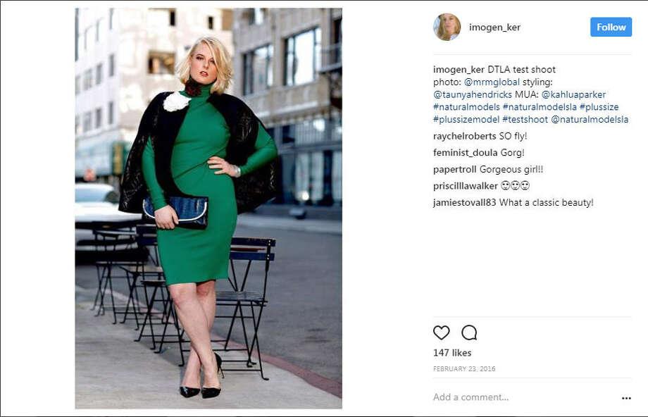 A screenshot of an Instagram photo of plus-size model Imogen Ker.Source: Instagram Photo: File/@imogen_ker Via Instagram