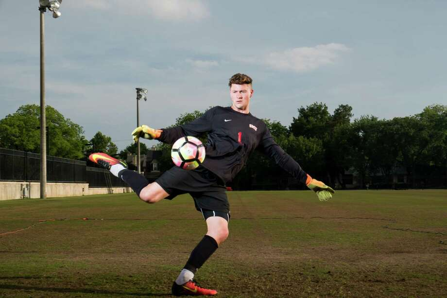 The Dynamo added a goalkeeper by drafing Seven Lakes graduate and SMU product Michael Nelson with the No. 20 overall pick in Friday's MLS SuperDraft. Nelson started 44 games in three seasons at SMU. Photo: SMU Athletics