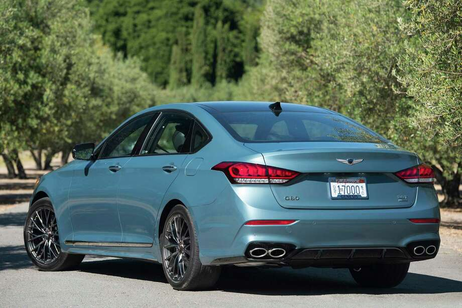 The 2018 Genesis G80 Sport comes with a 3.3-liter, 365-horsepower twin-turbo V-6 engine, connected to sport-tuned eight-speed automatic transmission with paddle shifters for manual operation. Photo: Hyundai