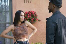 "Cleopatra Coleman as Sadie and Jay Pharoah as Floyd Mooney in ""White Famous,"" a comedy that's frequently offensive to women and out of step with current sensibilities."