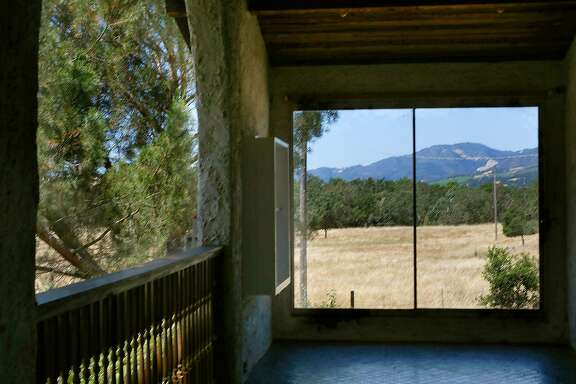 Back patio in the home of M.F.K. Fisher on Friday, June 22, 2017, at the Bouverie Preserve in Glen Ellen, Calif.  Her small adobe was designed by her benefactor and neighbor David Bouverie where she worked, cooked, and entertained guests like Herb Caen, Alice Waters, James Beard and Julia Child.