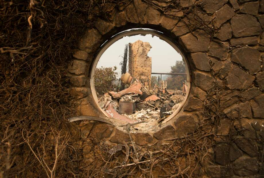 The Signorello Estate Winery is seen destroyed by fire in Napa, California on October 11, 2017. More than 200 fire engines and firefighting crews from around the country were being rushed to California on Wednesday to help battle infernos which have left at least 21 people dead and thousands homeless. / AFP PHOTO / JOSH EDELSON        (Photo credit should read JOSH EDELSON/AFP/Getty Images) Photo: JOSH EDELSON/AFP/Getty Images