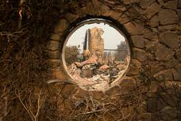 The Signorello Estate Winery is seen destroyed by fire in Napa, California on October 11, 2017. More than 200 fire engines and firefighting crews from around the country were being rushed to California on Wednesday to help battle infernos which have left at least 21 people dead and thousands homeless. / AFP PHOTO / JOSH EDELSON        (Photo credit should read JOSH EDELSON/AFP/Getty Images)