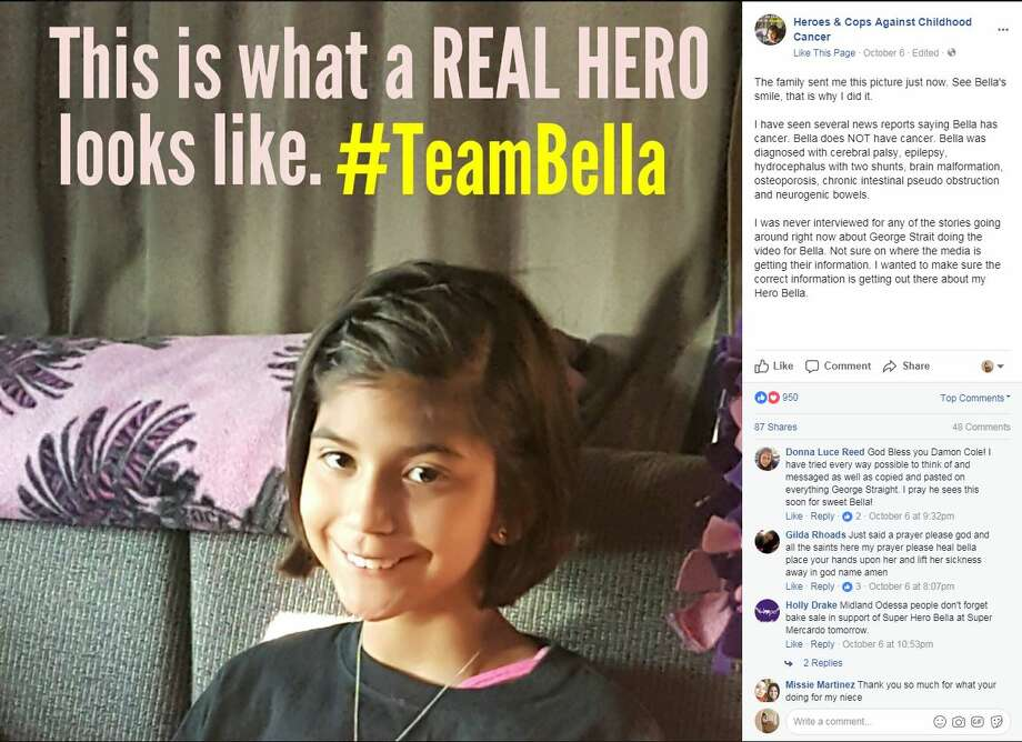 """""""The family sent me this picture just now. See Bella's smile, that is why I did it."""" Photo: Heroes & Cop Against Childhood Cancer"""