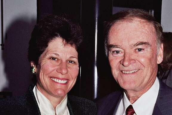 Former Mayor frank Jordan and Wendy Paskin at the Kidney Authors cocktail party. Ran on: 10-22-2006 Joe Veronese of Police Commission fears spying could discourage whistle-blowing.